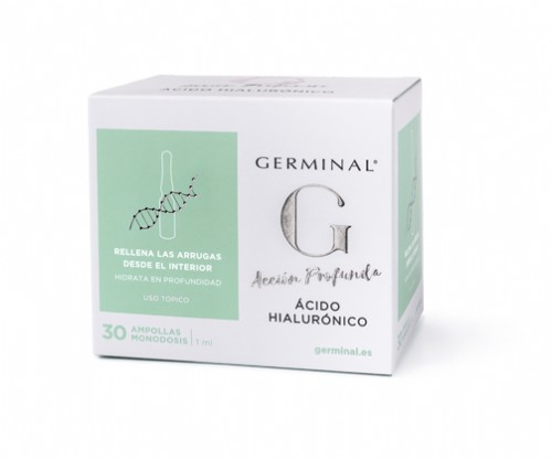 GERMINAL ACCION PROFUNDA ACIDO HIALURONICO (1 ML 30 AMPOLLAS)