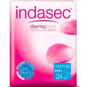 Indasec discreet normal compresa perdidas leves (24 absorb)