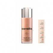 Sensilis velvet skin ha serum&foundation (02 noix 30 g)