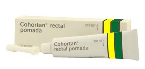 COHORTAN RECTAL POMADA, 1 tubo de 30 g