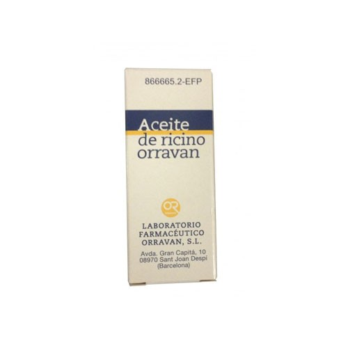 ACEITE RICINO ORRAVAN 1G/ML LIQUIDO ORAL, 1 frasco de 25 ml