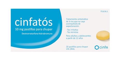 CINFATOS 10 mg PASTILLAS PARA CHUPAR , 20 comprimidos