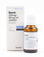 QUOCIN 120 mg/ 60 mg/ ml COLODION , 1 frasco de 20 ml