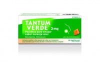 TANTUM VERDE 3 mg PASTILLAS PARA CHUPAR SABOR NARANJA-MIEL , 20 pastillas
